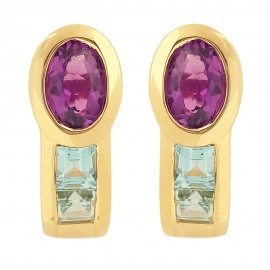 Tutti Frutti yellow gold earrings