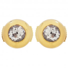 Vintage yellow gold earrings 750‰ Diamonds 0.50ct