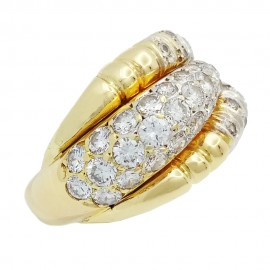 Vintage ring yellow gold 750‰ 4.00ct Diamonds