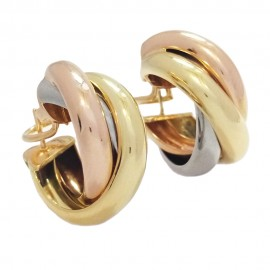 Cartier Trinity Earrings 3 gold 750