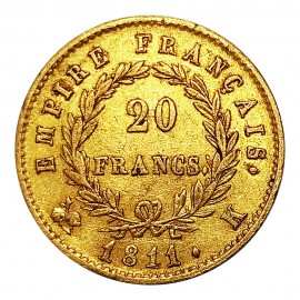 Napoleon I 20 Francs Or 1811 K