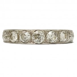 Vintage platinum ring, 5 old cut diamonds