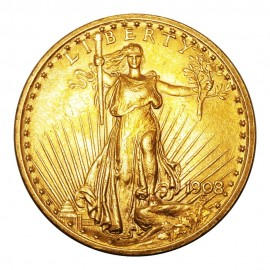 $20 Dollars 1908 Saint-Gaudens - Double Eagle Sans Devise