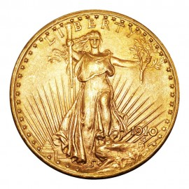$20 Dollars 1910 D Saint-Gaudens - Double Eagle With Motto