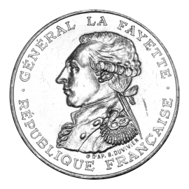 100 Francs Silver EQUALITY Lafayette 1987