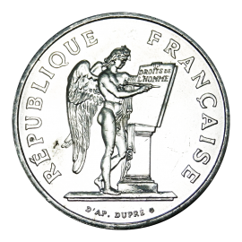 100 Francs Silver Lucky Angel 1989