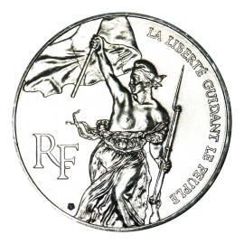 100 Francs Silver LOUVRE Liberty Leading the People 1993