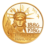 100 Francs gold Liberty 1886-1986