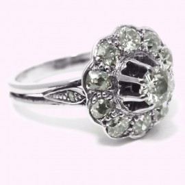 Ring white gold 750 diamond 1.25 carat