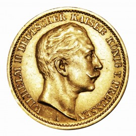20 Mark or Wilhelm II (1890-1913)